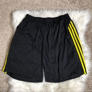 Adidas | Lined Jersey Shorts | Yellow Stripes | L